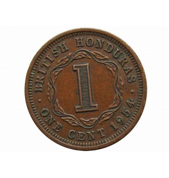 Британский Гондурас 1 цент 1954 г.