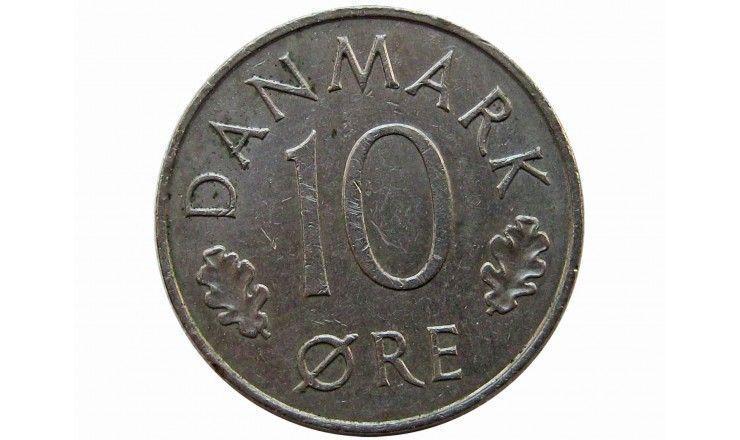 Дания 10 эре 1980 г.