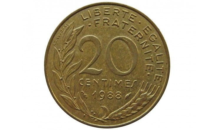 Франция 20 сантимов 1988 г.