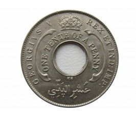Британская Западная Африка 1/10 пенни 1925 г. KN