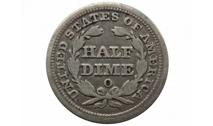 США 1/2 дайма 1853 г. O