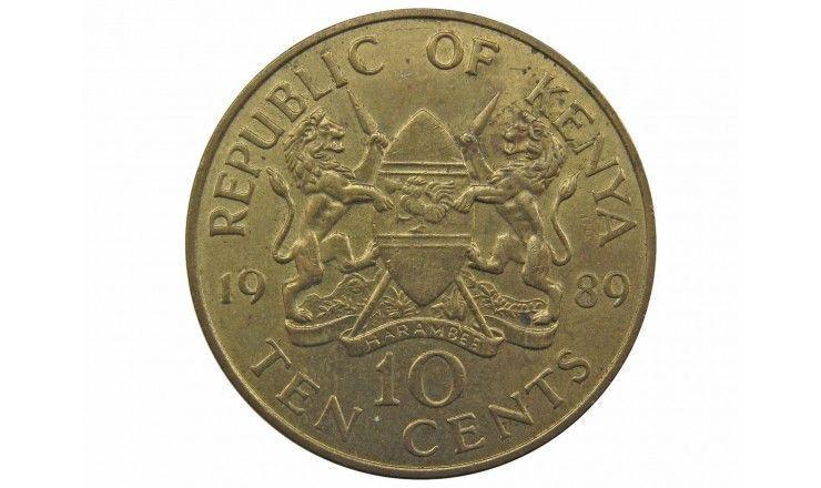 Кения 10 центов 1989 г.