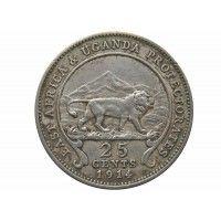 Британская Восточная Африка 25 центов 1914 г.