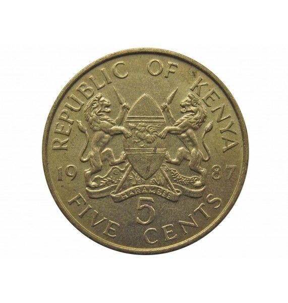 Кения 5 центов 1987 г.