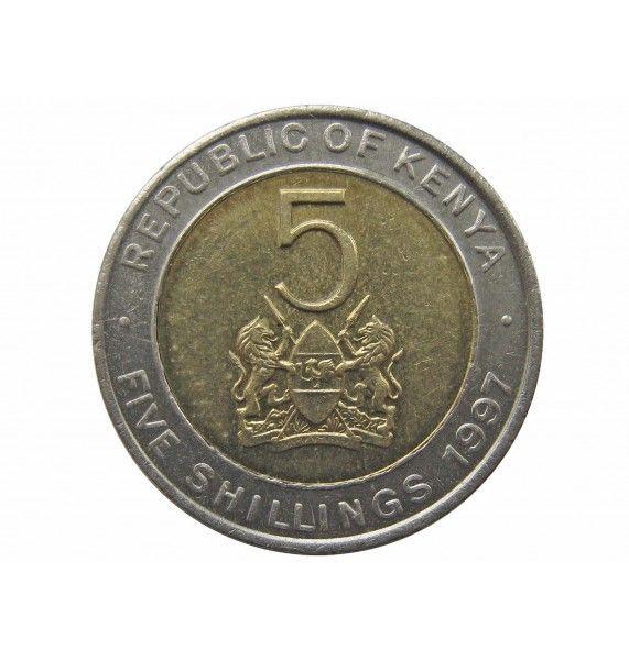 Кения 5 шиллингов 1997 г.