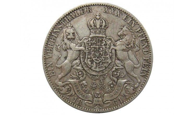 Ганновер 1 талер 1861 г.