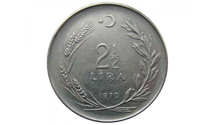 Турция 2 1/2 лиры 1970 г.