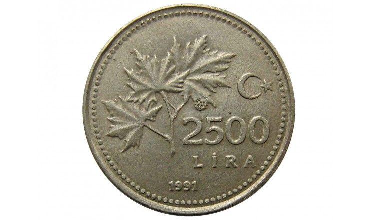 Турция 2500 лиры 1991 г.