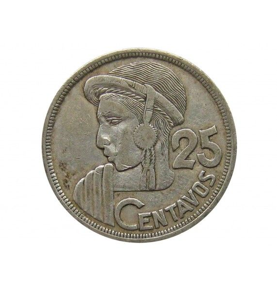 Гватемала 25 сентаво 1957 г.
