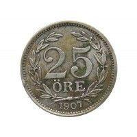 Швеция 25 эре 1907 г.
