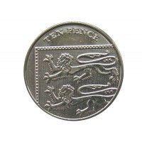 Великобритания 10 пенсов 2016 г.