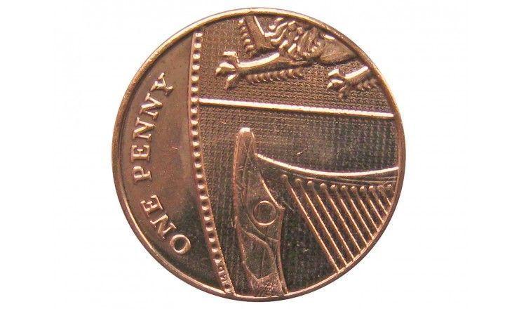 Великобритания 1 пенни 2016 г.