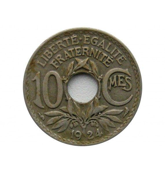 Франция 10 сантимов 1924 г.