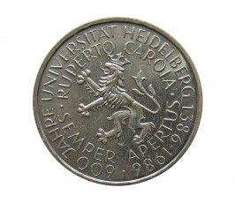 Германия 5 марок 1986 г. (600 лет Гейдельбергскому университету)