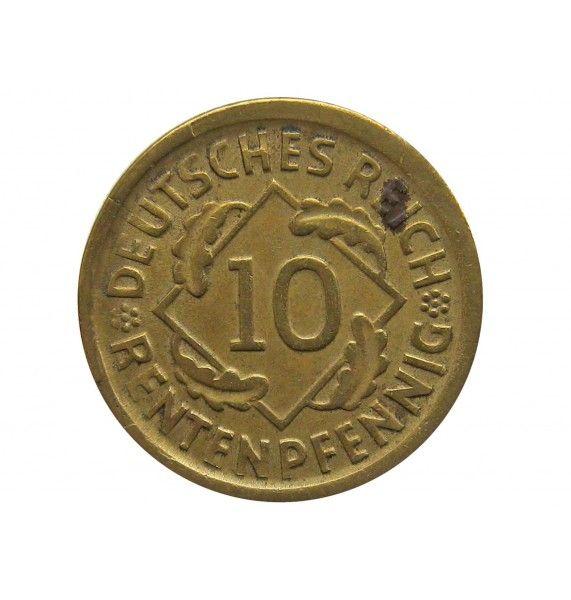 Германия 10 пфеннигов (renten) 1924 г. D
