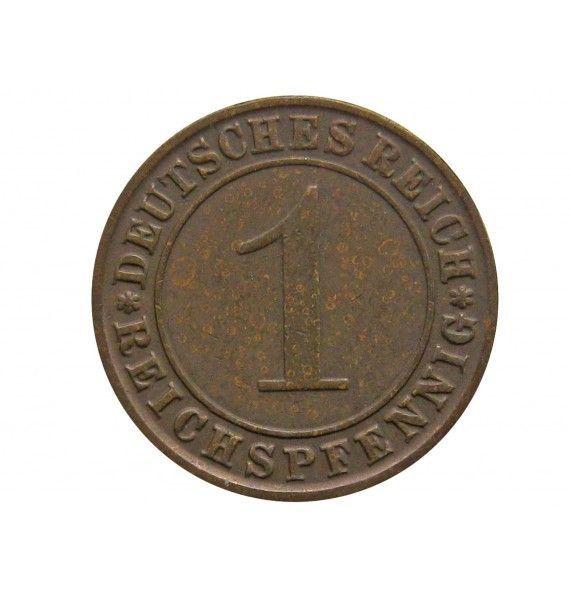 Германия 1 пфенниг (reichs) 1924 г. G