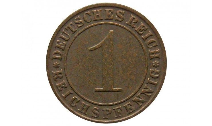 Германия 1 пфенниг (reichs) 1928 г. D