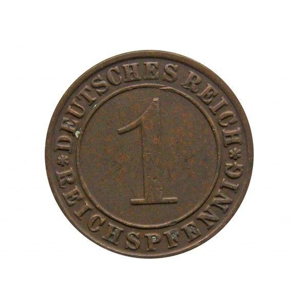 Германия 1 пфенниг (reichs) 1928 г. G