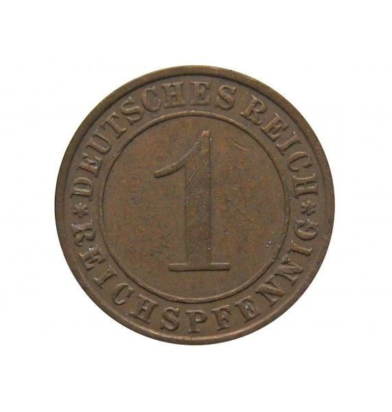 Германия 1 пфенниг (reichs) 1929 г. E