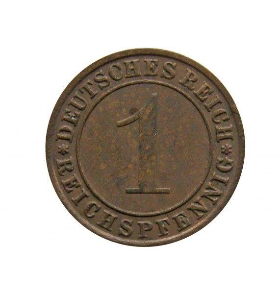 Германия 1 пфенниг (reichs) 1931 г. F