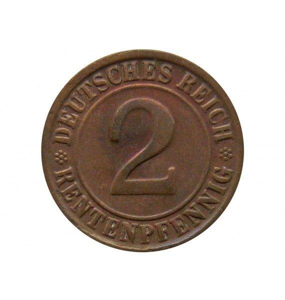 Германия 2 пфеннига (renten) 1924 г. F