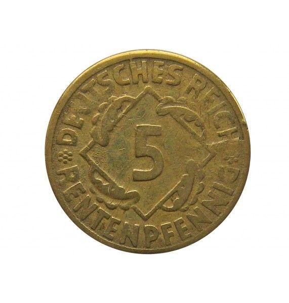 Германия 5 пфеннигов (renten) 1924 г. E