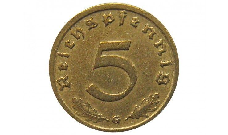 Германия 5 пфеннигов 1938 г. G