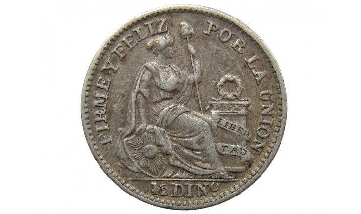 Перу 1/2 динеро 1908 г.