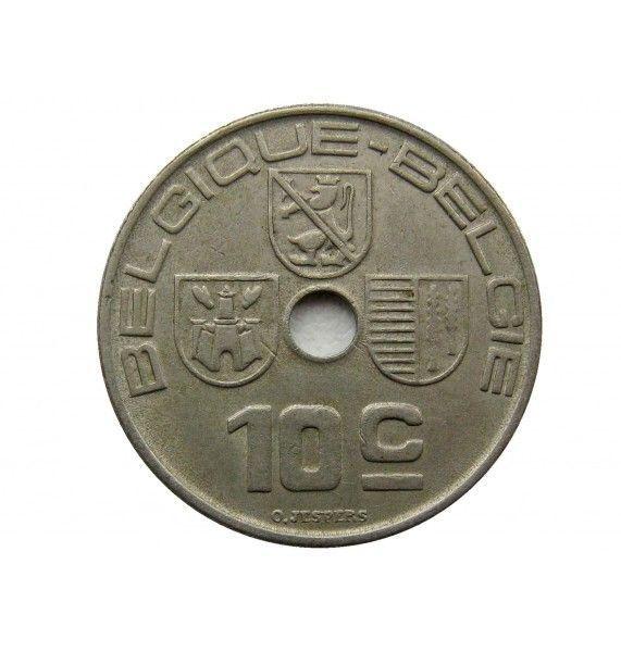 Бельгия 10 сантимов 1938 г. (Belgique-Belgie)