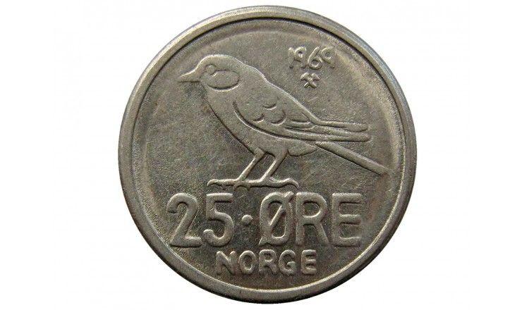 Норвегия 25 эре 1969 г.
