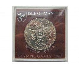 Остров Мэн 1 крона 1980 г. (Олимпийские Игры 1980 г. в Москве) + капсула