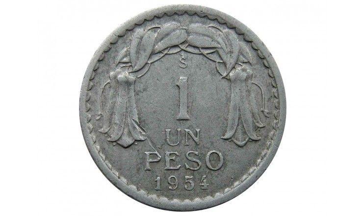 Чили 1 песо 1954 г.
