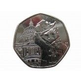 Великобритания 50 пенсов 2019 г. (Паддингтон перед cобором Святого Павла)