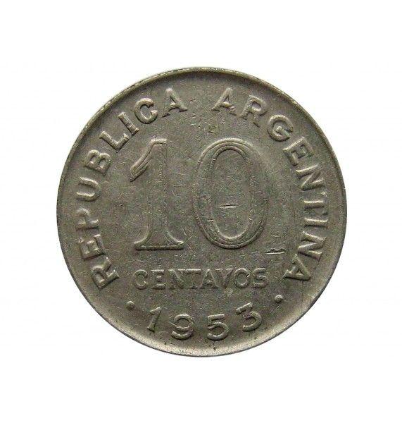 Аргентина 10 сентаво 1953 г.