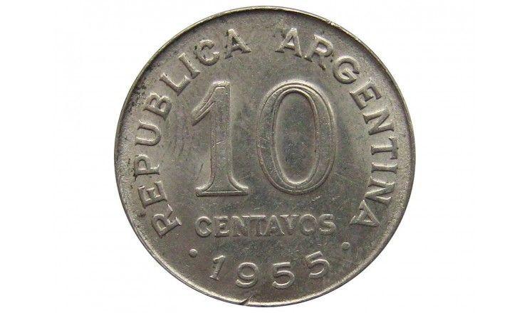 Аргентина 10 сентаво 1955 г.