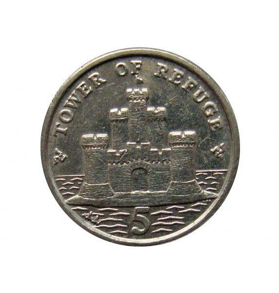 Остров Мэн 5 пенсов 2013 г. AA