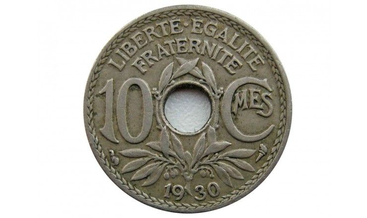 Франция 10 сантимов 1930 г.