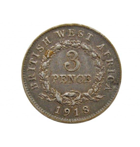 Британская Западная Африка 3 пенса 1918 г. H