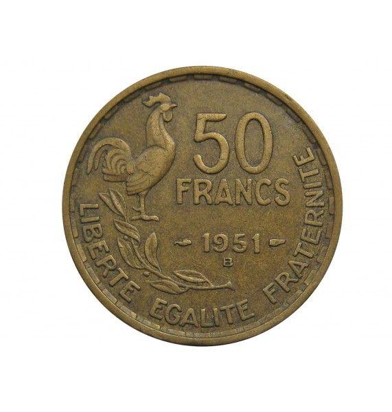 Франция 50 франков 1951 г. B