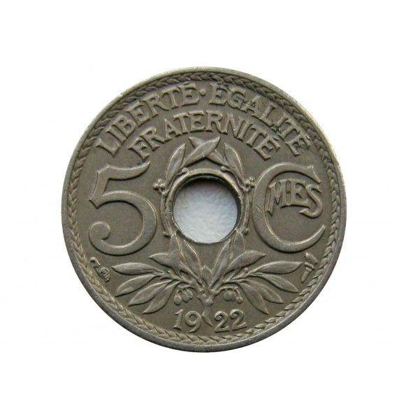 Франция 5 сантимов 1922 г.