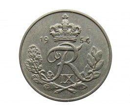 Дания 10 эре 1954 г.