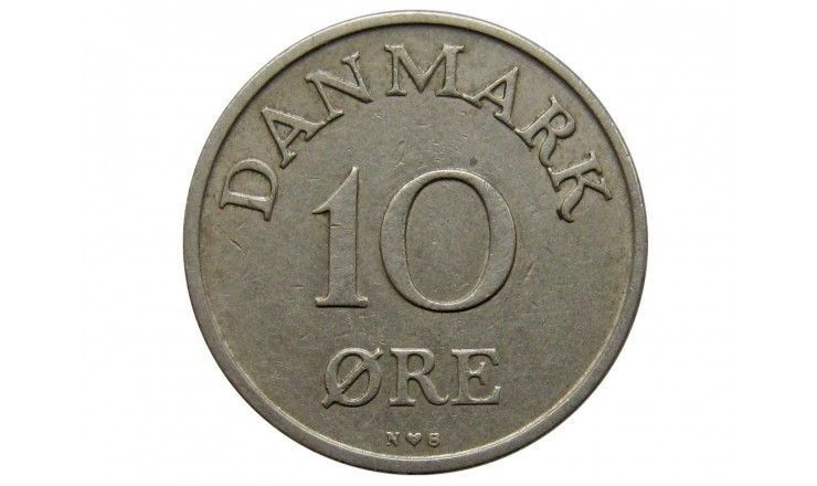 Дания 10 эре 1955 г.