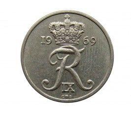 Дания 10 эре 1969 г.