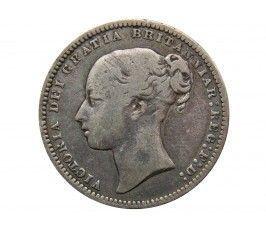 Великобритания 1 шиллинг 1876 г. Die 27