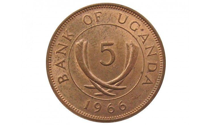 Уганда 5 центов 1966 г.