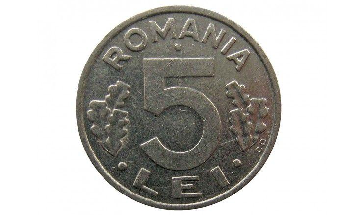 Румыния 5 лей 1992 г.