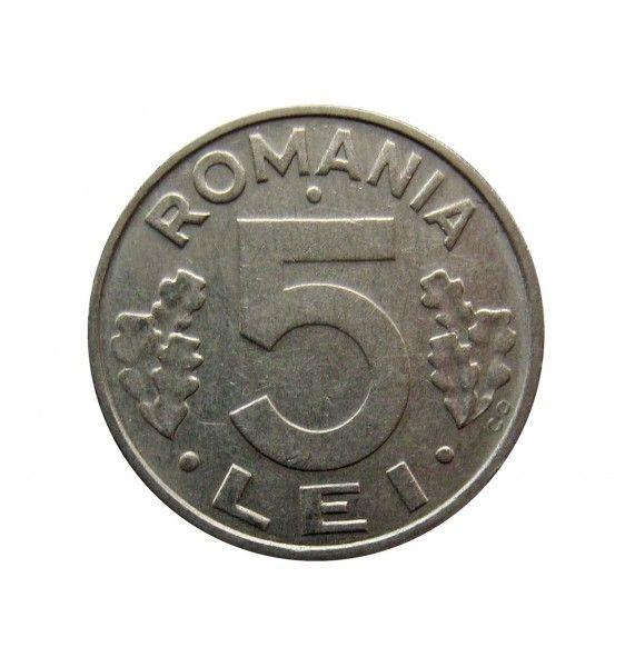 Румыния 5 лей 1993 г.