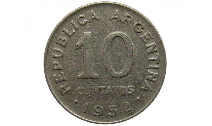 Аргентина 10 сентаво 1952 г.