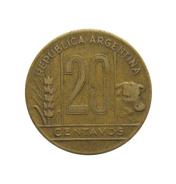 Аргентина 20 сентаво 1945 г.