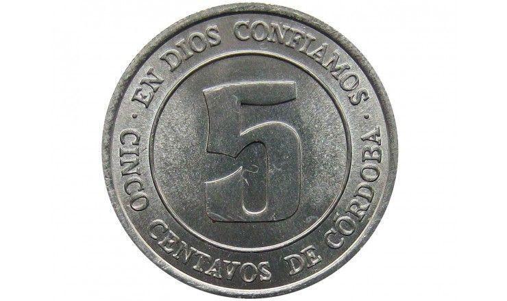 Никарагуа 5 сентаво 1974 г.